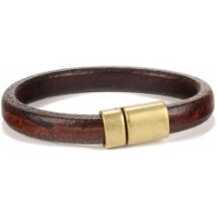 Wisconsin Unisex Bracelet - in Distressed Brown
