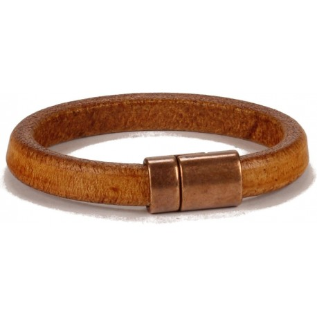Wisconsin Unisex Bracelet - in Distressed Camel