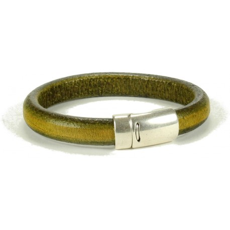 Wisconsin Unisex Bracelet - in Distressed Olive