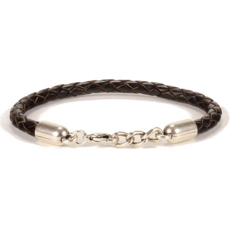 Illinois Unisex Bracelet - in Dark Brown