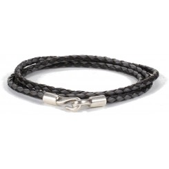 Iowa Unisex Bracelet - in Grey & Black