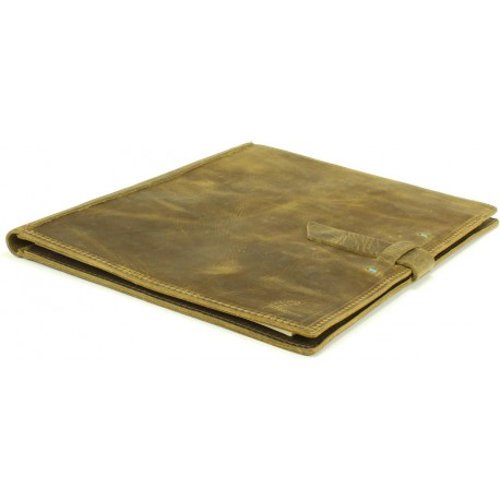 Red Eye Letter Pad Portfolio - in Antique Brass