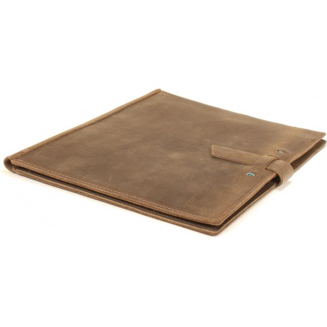 Red Eye Letter Pad Portfolio - in Oil Bronze