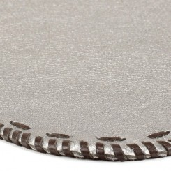 Platte Hand-laced Leather Placemat - Silver