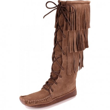 Women's Nokasippi - Chocolate 3-Tier Suede