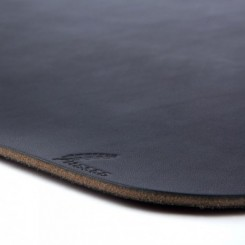Platte Leather Placemat - Black
