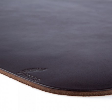 Platte Leather Placemat - Dark Brown