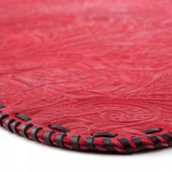 Platte Hand-laced Leather Placemat - Red