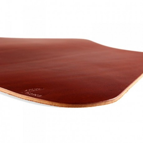 Wexford Leather Placemat For Round Table   Russet