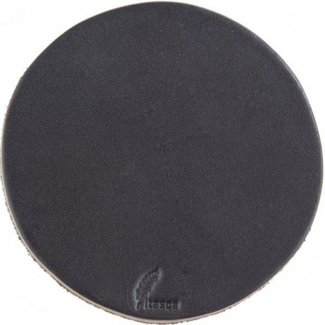 Watab Leather Coaster - Black