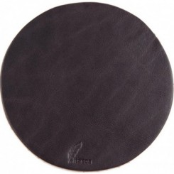 Watab Leather Coaster - Dark Brown