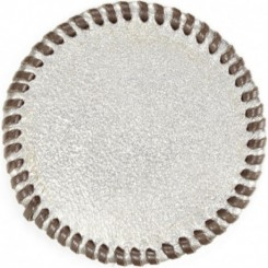 Watab Hand-laced Leather Coaster - Silver