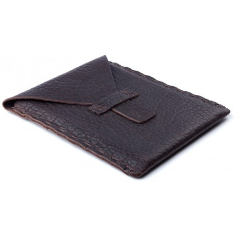 Fabius Hand-laced iPad Case in Shrunken Buffalo - Mahogany