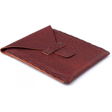Fabius Hand-laced iPad Case in Shrunken Buffalo - Peanut
