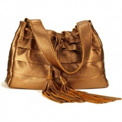 Galena Shoulder Handbag - Bronze Metallic