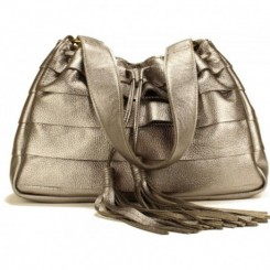 Galena Shoulder Handbag - Gunmetal Metallic