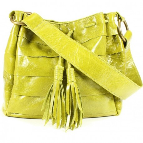 Mini Galena Shoulder Handbag - Avocado