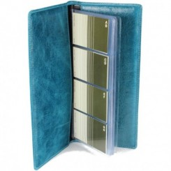 Zumbro Business Card Folio - in Ocean Blue