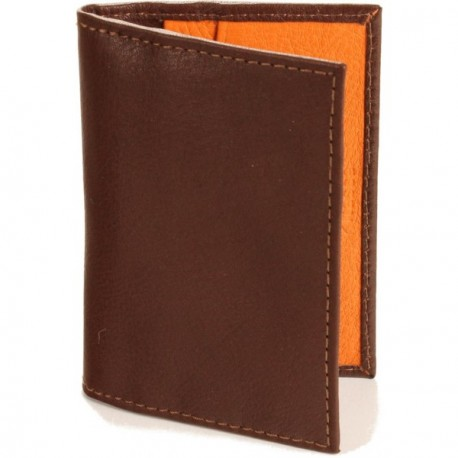 Calamus Credit Card Wallet - in Brandy Orange