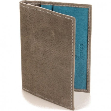 Calamus Credit Card Wallet - in Grey Turquoise
