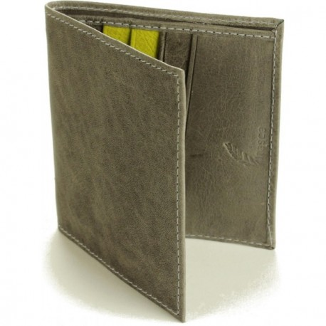 Vermillion Bifold Wallet - in Grey Lime