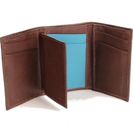 Cannon Trifold Wallet - in Brandy Turquoise