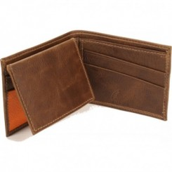 Rush Bifold Wallet - in Whiskey Orange
