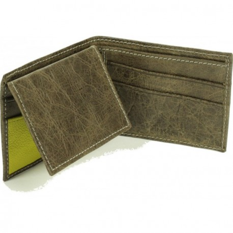 Rush Bifold Wallet - in Dark Taupe Lime