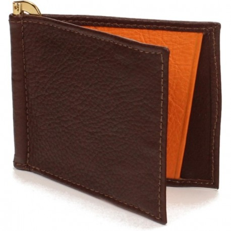 Menominee Money Clip - in Brandy Orange