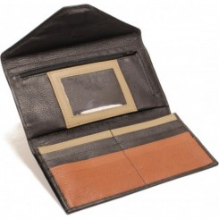 L'Anguille Women's Wallet - in Black Cork Sand
