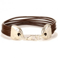 Minnesota Unisex Bracelet - in Chocolate Brown